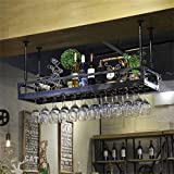 YYJRR-Eckregale Regal im Wohnzimmer Schlafzimmer Küche Hängendes angebrachtes Metallwein Gestell Retro Eisen Das Umgedrehtes Bier Umgekehrtes Flaschen Becher Halter Restaurant hängt Dekoration Rack