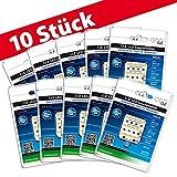 10x LED Ersatzleuchtmittel für Artemide Tizio 35 12V GY6.35 3000K 6 Watt (35 Watt)