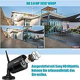 ieGeek 1080P Überwachungskamera, Sony 2 MP Objektiv HD IP Kamera, LAN & Wlan Sicherheitskamera für Außen Wasserdicht, Unterstützung FTP, Email, IR Nachtsicht, Bis zu 128GB SD Karte, Schwarz - 2