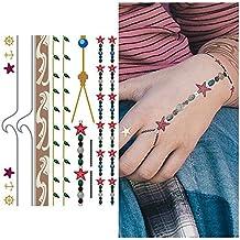 Tat tify nautisch stella marina Bracciale TEMPOR & # X160; re tatuaggi-K & # x178; (Shiny Silver Beads)