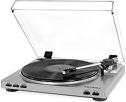 Victrola Pro Automatischer Plattenspieler USB Vinyl-zu-MP3-Aufnahme - Silber