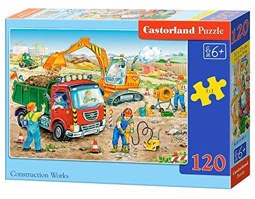 Castorland B-13180-1 - Puzzle Bauarbeiten 120 Teile
