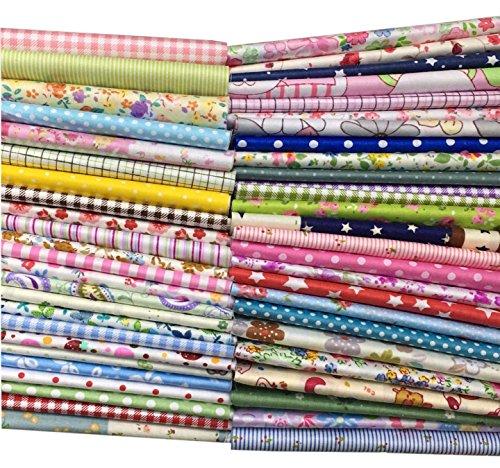 tessuti-patchwork-stoffe-per-patchwork-scampoli-stoffa-50pz-tessuto-stampato-cotone-scampolo-tessuto