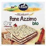 Matt - Pane Azzimo Bio - Pane Vegetale Senza Lievito e Senza Sale - 400 gr - [confezione da 6]