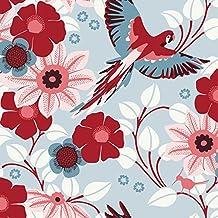 Hanna Werning 1312 zuhausewohnen fiori e azzurro Ikea-catalogo 2012 psittaciformes, lato 50