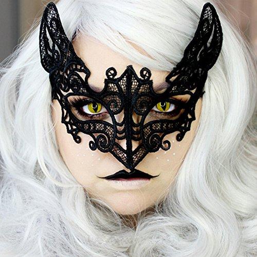 Tocoss(TM) Schwarze Katzen-Spitze Maske Cosplay M?dchen Halloween Sexy Lady Spitze Ball Maske f¨¹r Maskerade-Partei-schwarze venezianischen - Maske Maskerade Schwarze Katze