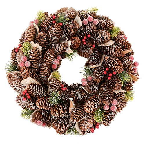 Dekor Satiniert Tannenzapfen Berry Christmas Kollektion Wreath
