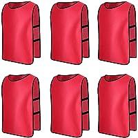 Senston 6 X Sport pinnies Adulti Rissa di Formazione Maglie Calcio Pettorali Viola e 3 Dimensioni
