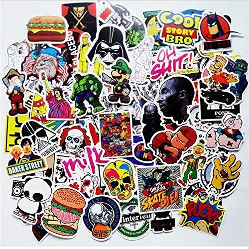 YLGG Cartoon Zufällige Farbe Aufkleber Heißer Großhandel DIY Vinyl Aufkleber Graffiti Aufkleber Bombe Laptop wasserdichte Aufkleber Skate 200 Stücke Neu