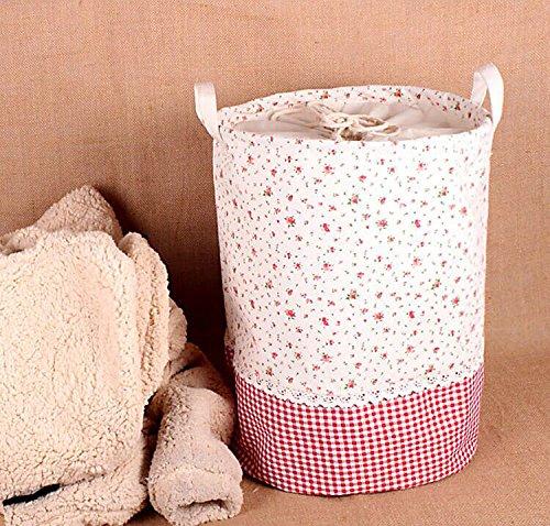 aufbewahrung, Soriace premium foldable cotton line Wäschekorb Klapp Kinder Spielzeug organizer Spielzeug aufbewahrung Spielzeug Warenkorb Kleidung Halter wäschebox mit Deckel...