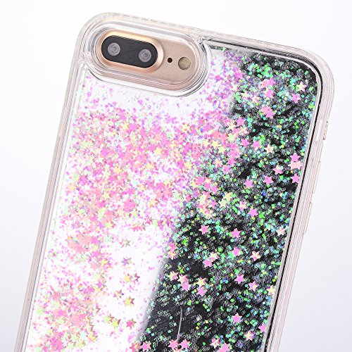 iPhone 6 Hülle, Voguecase Flüssig Diamant Schwimmend Treibsand Glitzer Bling Silikon Schutzhülle / Case / Cover / Hülle / TPU + PC Gel Skin für Apple iPhone 6/6S 4.7(Star/Pink) + Gratis Universal Eing Star/Pink