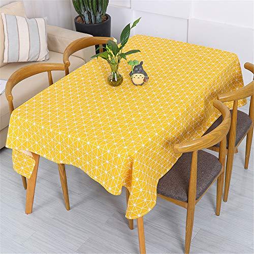 SUNNYAN Runde Tischdecke aus Baumwolle und Leinen Ölbeständige romantische Tischdecke mit Blumendruck für den Außenbereich