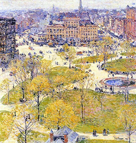 Das Museum Outlet - Union Square in Spring by Hassam - A3 Poster