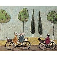 "Sam Toft ""A Nice Day For It"" Canvas Print, Cotton, Multi-Colour, 3.20 x 40.00 x 50.00 cm"