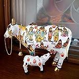 #8: Vivaan Exim Kamdhenu cow with calf home decor vastu and feng shui showpiece - 19cm