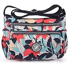 ABLE Waterproof Shoulder Bag Casual Handbag Messenger bag Crossbody Bags Multi-functional pocket design: can plug flat, book, wallet, etc