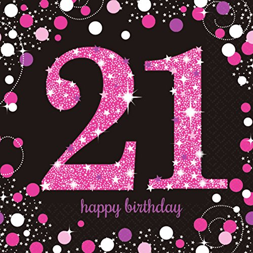 cm Celebration 21. Geburtstag Servietten ()