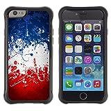 FJCases Frankreich Französisch Flagge Farbe Stoßfest Anti-Rutsch Weiches Gummi Hülle Case Schutzhülle Taschen für Apple iPhone 6 / 6S