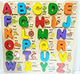 #8: LittleHamlet Wooden Alphabet Learning Block Board Puzzle 26 Letters (A-Z) with Phonetic Sound