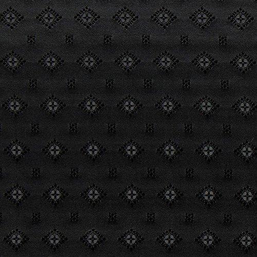 Jacquard-stoff-tasche (Fabulous Fabrics Futterstoff Jacquard Rauten - schwarz - Meterware ab 0,5m - zum Nähen von Futter, Abend- und Partymode und Businesskleidung)