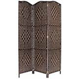 Hartleys Solid Weave Hand Made Wicker Room Divider - Choice of Size & Colour