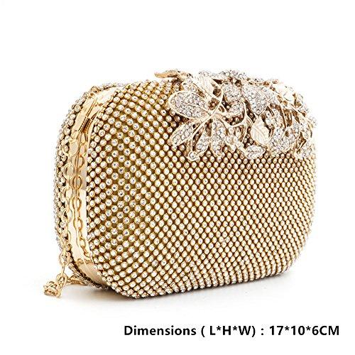 KICCOLY , Damen Clutch Gold8029