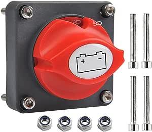Ofnmy Batterie Trennschalter Hauptschalter 12v 24v Batterietrennschalter 300a Ein Aus Batterieschalter Für Boots Auto Auto