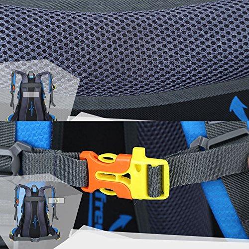 Borse zaino da 40L / 50L per uomini e donne escursionismo Trekking Camping Travel impermeabile vacanza Unisex Outdoor Sport Rucksack (blu) blu