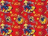 Baumwolljersey Feuerwehrmann Sam 5, Meterware ab 0,5 m/Top-Qualität/Öko-Tex 100 / Stoffe Hemmers Exklusiv für Baumwolljersey Feuerwehrmann Sam 5, Meterware ab 0,5 m/Top-Qualität/Öko-Tex 100 / Stoffe Hemmers Exklusiv