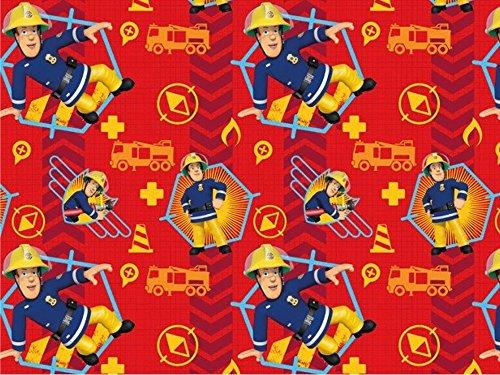 Baumwolljersey Feuerwehrmann Sam 5, Meterware ab 0,5 m/Top-Qualität/Öko-Tex 100 / Stoffe Hemmers Exklusiv