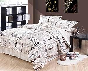 fadfay heimtextilien 2014 neue mode westlicher stil bettdecke mit englischer zeitung. Black Bedroom Furniture Sets. Home Design Ideas