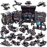 EduToys Police Swat with Car and Gun Building Blocks Toys, 750 Pieces