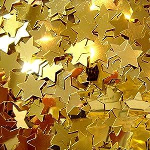 Gifts 4 All Occasions Limited SHATCHI-185 - Confeti de estrella (14 g), color dorado