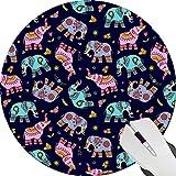 Es gibt ethnicstyle Elefant Gruppen Custom Neue Professionelles Design Spiel Das Desktop Notebook Gummi Mauspad rund Mauspad