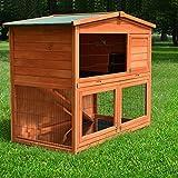 Zooprimus Kaninchenstall 23 Hasenkäfig - HASENHAUS-M - Stall für Außenbereich (GRÖßE: (M) | für Kleintiere: Hasen, Kaninchen, Meerschweinchen usw.)