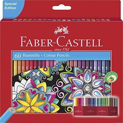 Faber-Castell Crayons de couleur (Lot de 60)