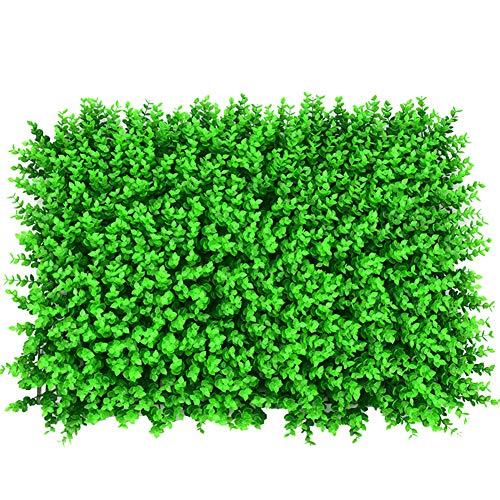 2 Siepe Artificiale Faux Eucalyptus Vegetazione Privacy Schermi Verde Siepe Sfondo Plastica Giardino Falso Recinzione Mat Pannello Traliccio Decorazione della Parete,Encrypted