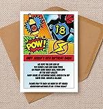 Personalisierte Comic Book Style Geburtstag Einladungen mit Umschlägen (10Stück)