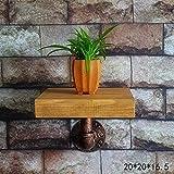 LOFT Wanddekoration Regal An der Wand befestigte Regal-Weinlese schmiedeeiserne Rohr-Gestell-Wand-Regale Festes Holzküche-Regal-Wand-Trennwände Spezifikationen: 20 * 20 * 16.5cm Industrielle Dekorat