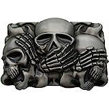 YONE Rock Punk Skull Belt Buckle