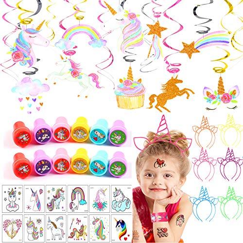 VAMEI Unicornio Cumpleaños Tatuajes Temporales Niños