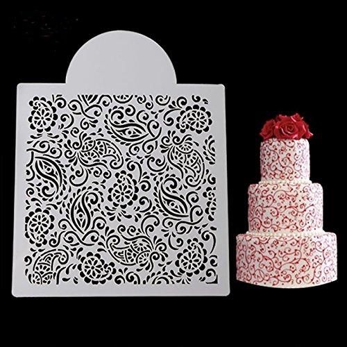september-europe Fondant Eis Mesh Schablone, Schimmel, Hochzeit Kuchen dekorieren Backen Werkzeuge, Zucker Vorlage, Dessert Backen Dekorieren Schimmel - Europa-dessert