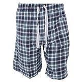Cargo Bay - Pantalones cortos de pijama de franela Estampados hombre caballero (S - medida cintura -...