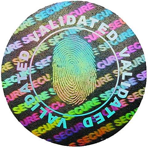 Impronte di convalida Hologram, 20 mm, colore: argento, 3 cm/10,16 (4 Round Etichette)
