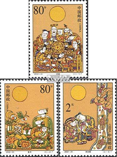 Prophila Collection People's Republic of Cina 3391-3393 (Completa Edizione) 2002 Mondfest (Francobolli per i Collezionisti)