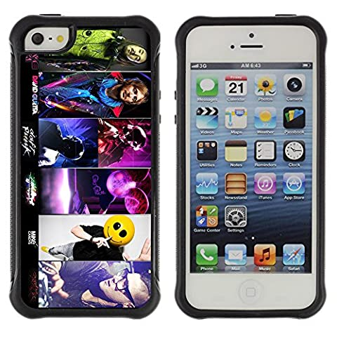 ZAKO Cases / Apple Iphone 5 / 5S / Deadmau5 Skrillex Band Collection / Robuste Antichoc Coverture Shell Armure Coque Coq Cas Etui Housse Case Cover Slim Armor