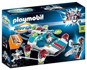 Playmobil - FulguriX con Agente Gene, Personajes de la Serie Super 4, Multicolor (Playmobil, 9002)