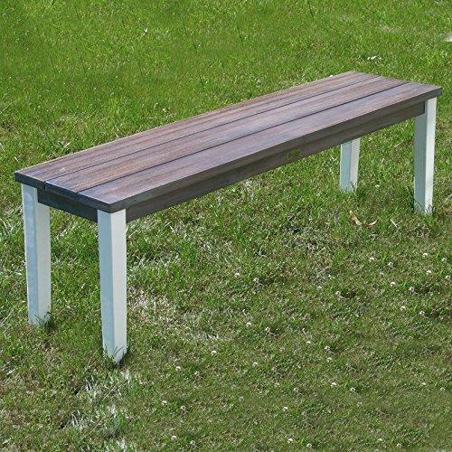 """NEU Picknick Bank Gartenbank """"ARUBA"""" weiß braun Eukalyptusholz 140x35x44cm - 2"""