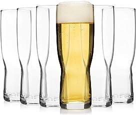 Bormioli Bierglas Set 6 teilig | Füllmenge 568 ml entsprechen einem englischen Pint | Perfekt geeignet für Ale, Stout, Guinness oder Pilsener | Genießen Sie den Abend einem Glas Bier