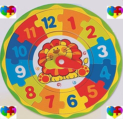 Orologio per Bambini Prime Ore Puzzle in Legno - 8474 Eurolandia